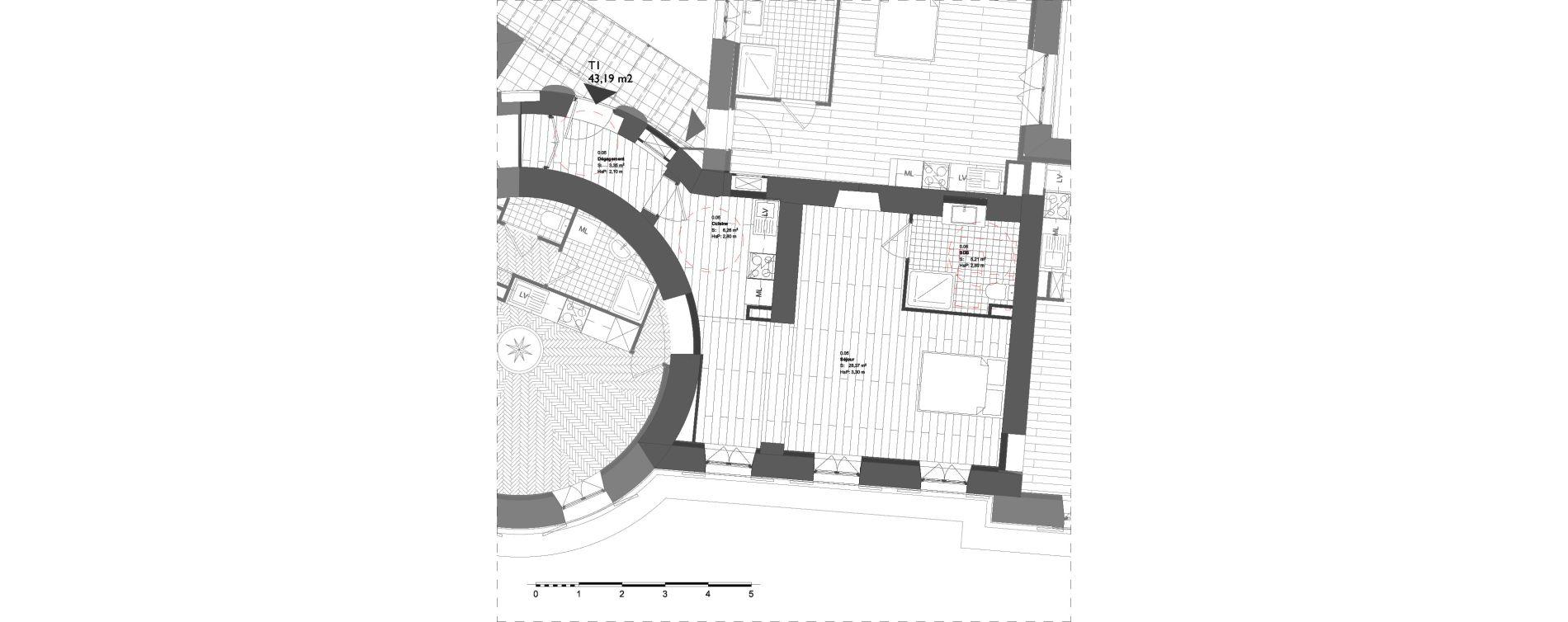 Appartement T1 de 43,19 m2 à La Londe-Les-Maures Centre
