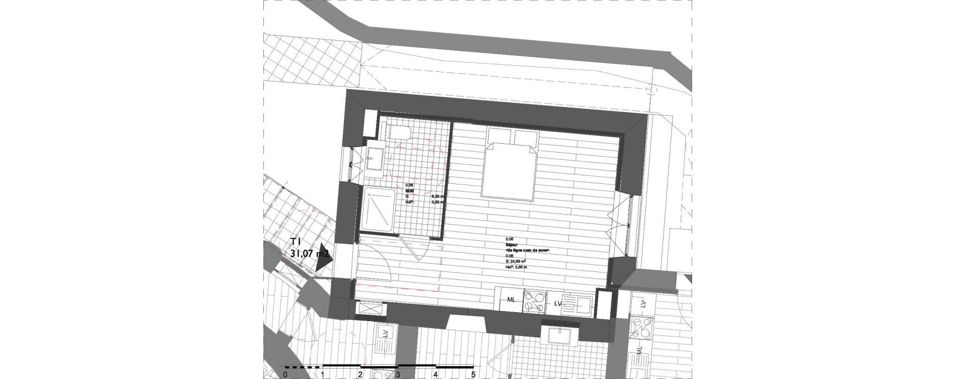 Appartement T1 de 31,07 m2 à La Londe-Les-Maures Centre