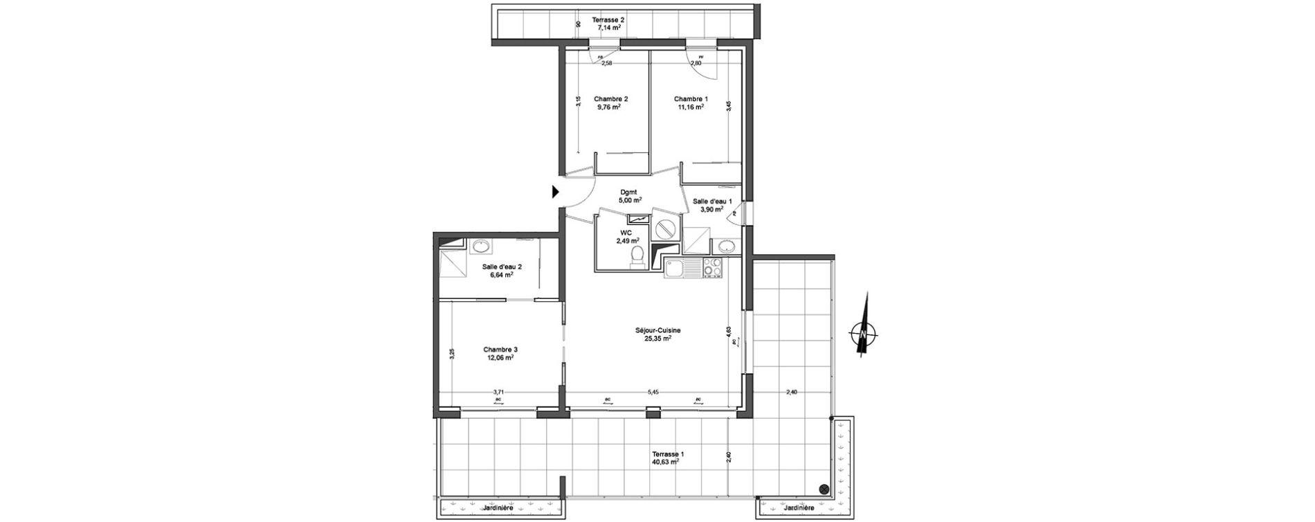 plan appartement 76m2