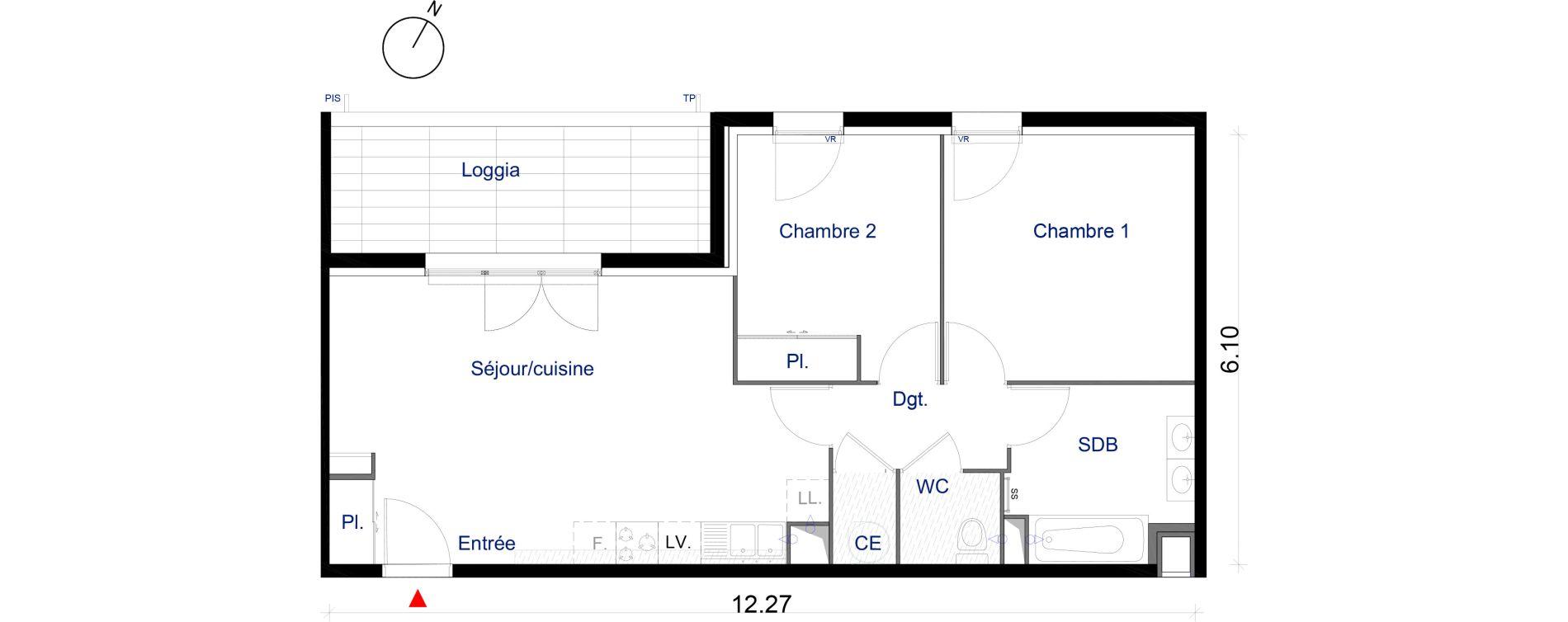 Appartement T3 de 60,84 m2 à La Seyne-Sur-Mer La seyne sur mer centre