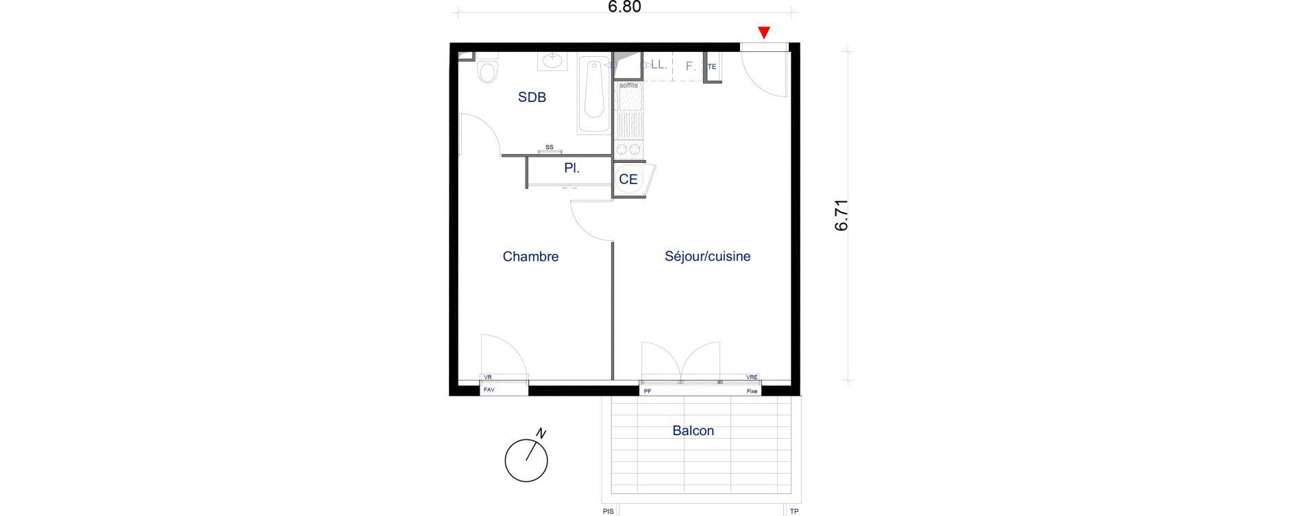Appartement T2 de 44,34 m2 à La Seyne-Sur-Mer La seyne sur mer centre