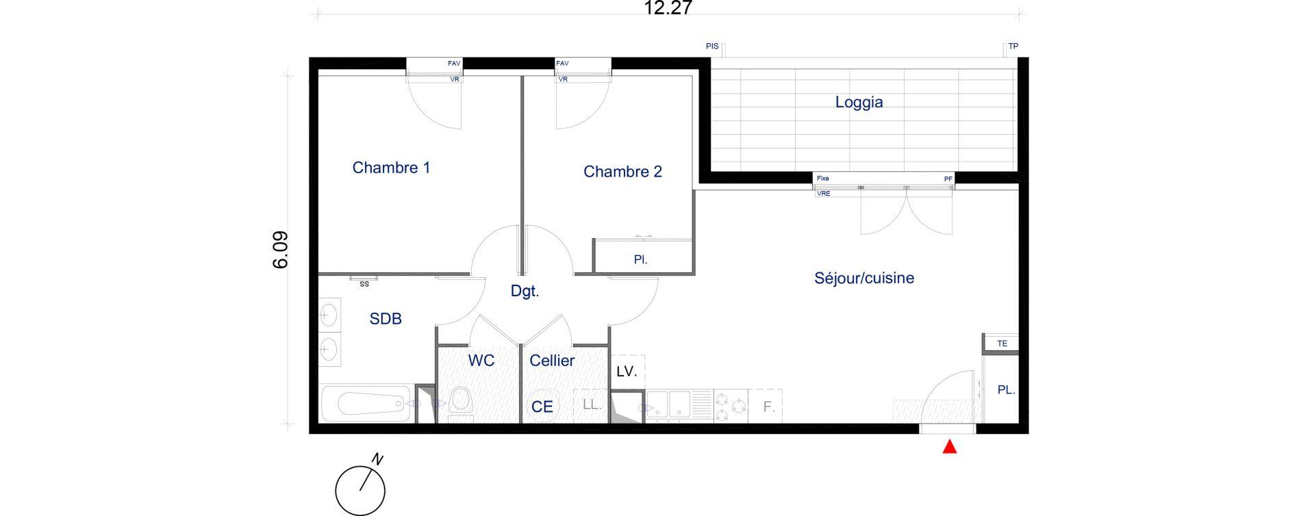 Appartement T3 de 61,34 m2 à La Seyne-Sur-Mer La seyne sur mer centre