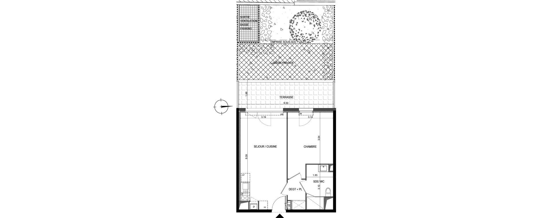 Appartement T2 de 40,61 m2 à La Seyne-Sur-Mer Porte marine