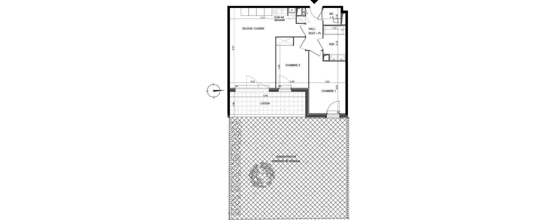 Appartement T3 de 58,58 m2 à La Seyne-Sur-Mer Porte marine