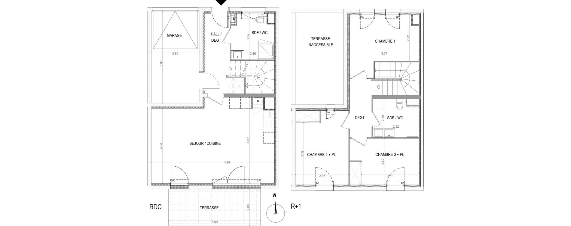 Maison T4 de 81,51 m2 à La Seyne-Sur-Mer Porte marine