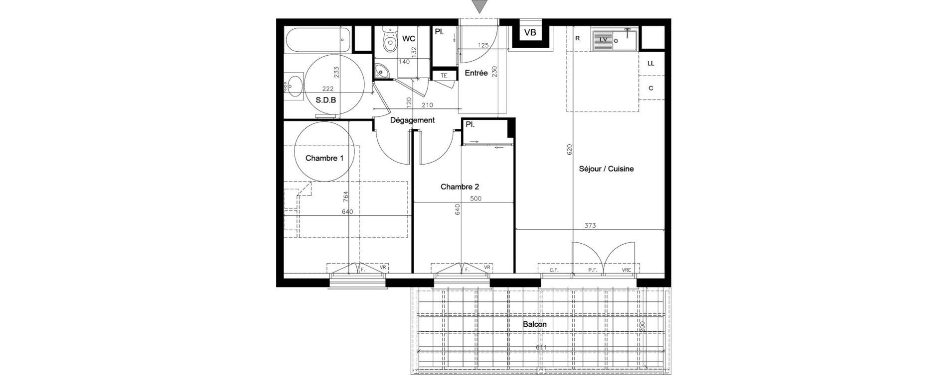 Appartement T3 de 56,20 m2 au Muy Saint roch - le muy