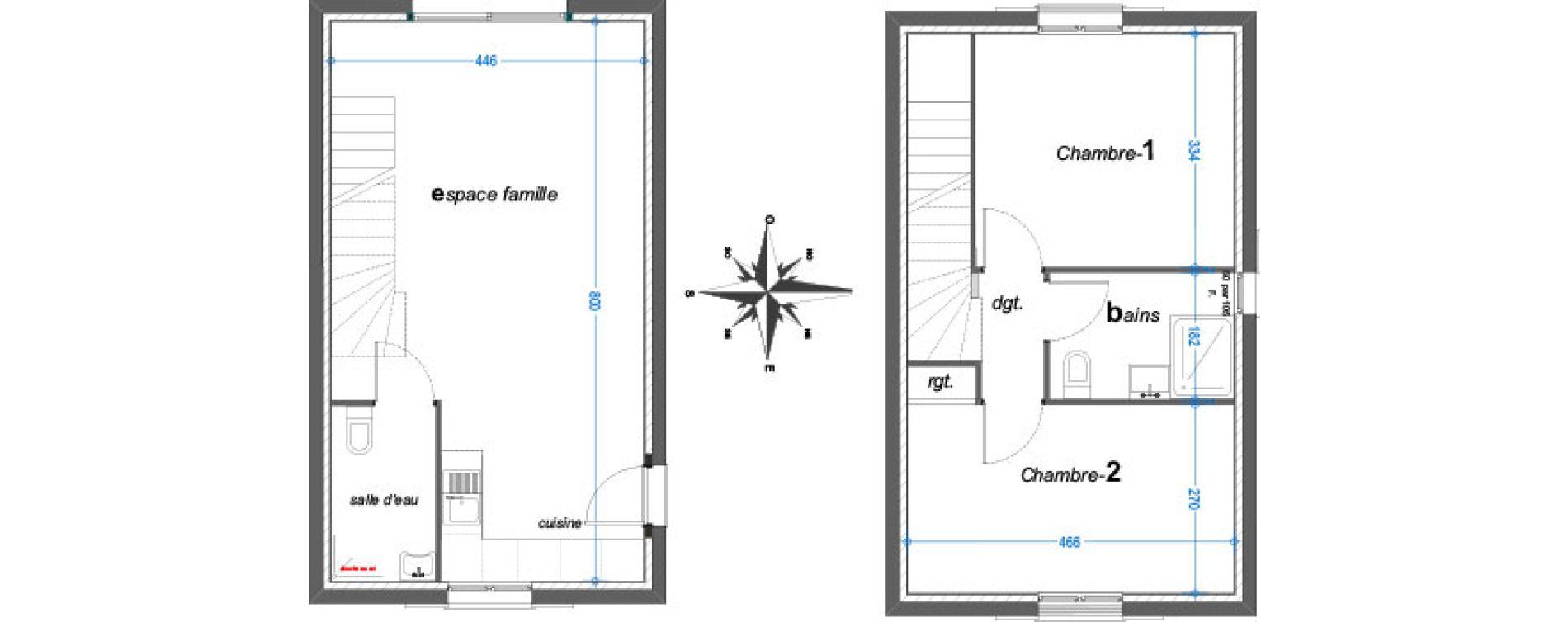 Maison T3 de 65,30 m2 au Revest-Les-Eaux Centre