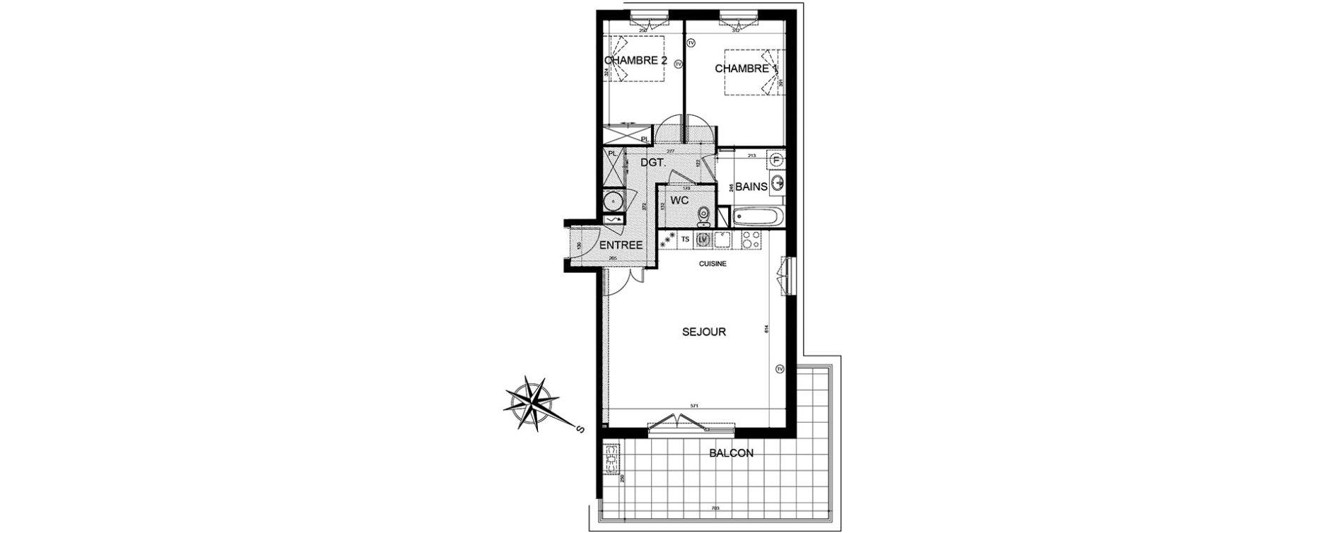 Appartement T3 de 71,11 m2 à Puget-Sur-Argens Centre