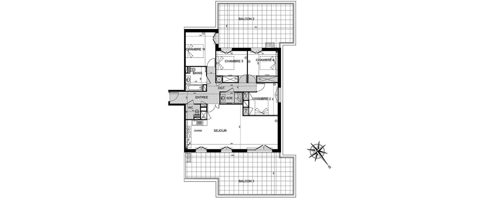 Appartement T5 de 106,77 m2 à Puget-Sur-Argens Centre