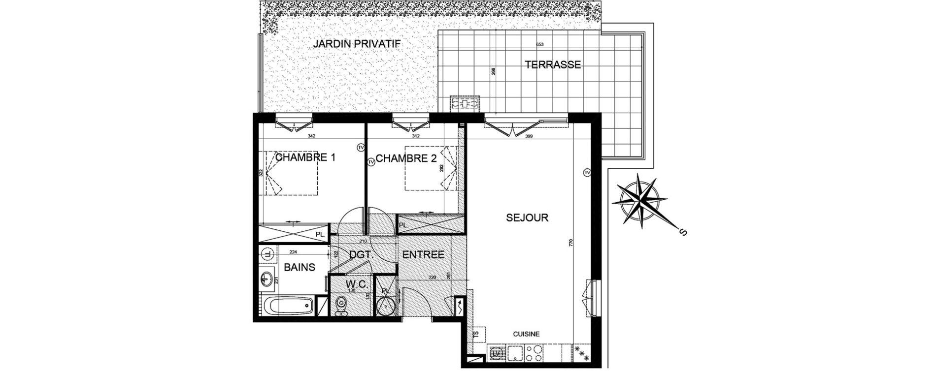 Appartement T3 de 69,97 m2 à Puget-Sur-Argens Centre