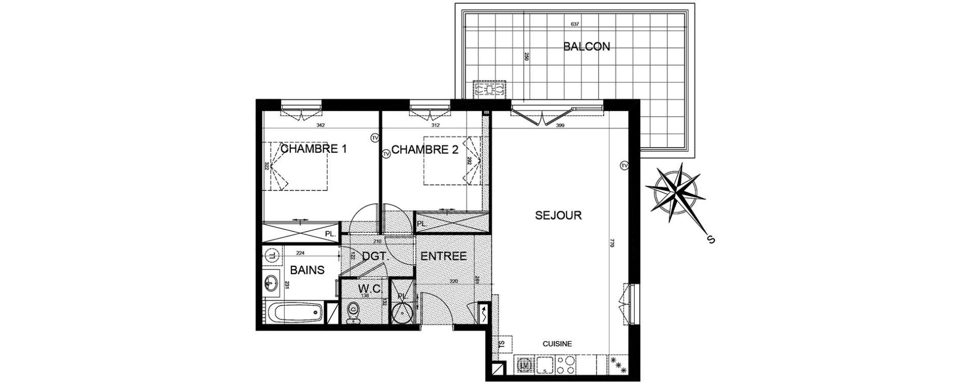 Appartement T3 de 69,96 m2 à Puget-Sur-Argens Centre