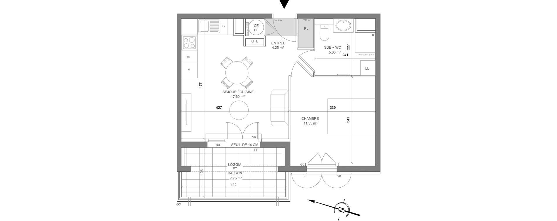 Appartement T2 de 38,40 m2 à Puget-Sur-Argens Centre
