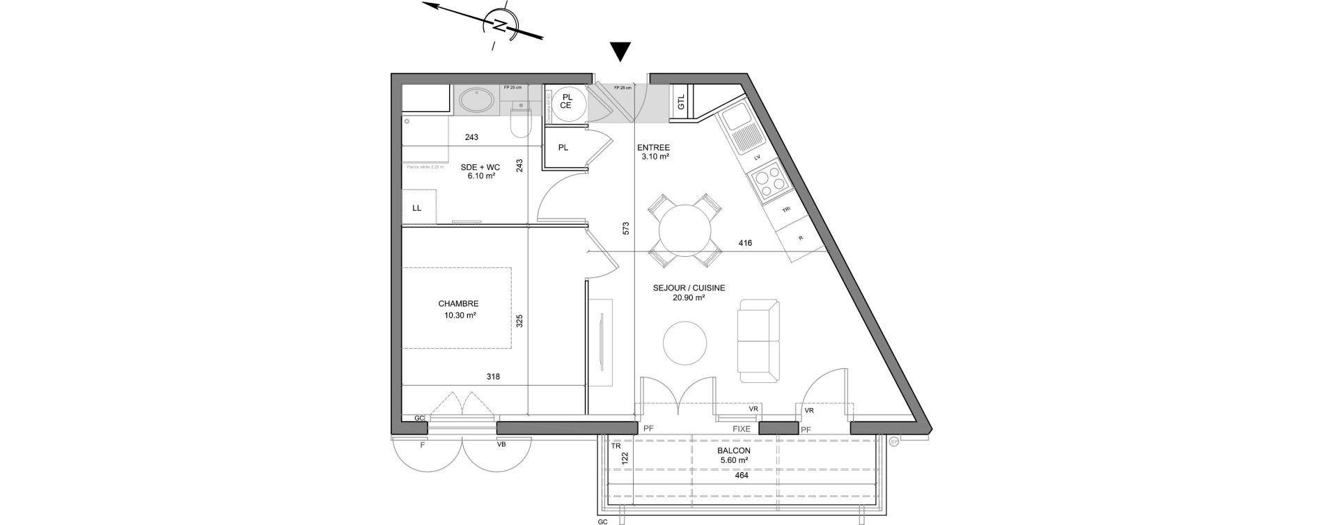 Appartement T2 de 40,40 m2 à Puget-Sur-Argens Centre