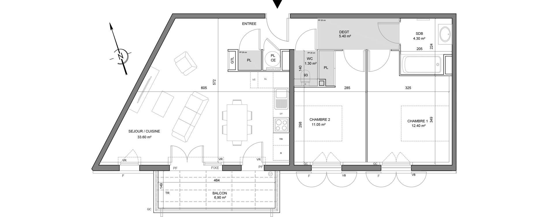 Appartement T3 de 68,05 m2 à Puget-Sur-Argens Centre