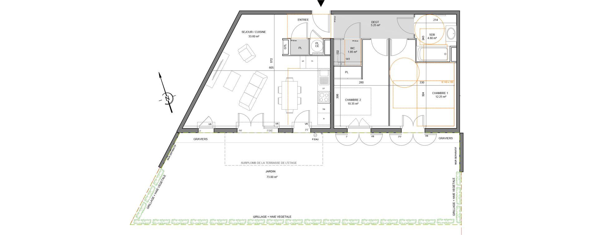 Appartement T3 de 68,10 m2 à Puget-Sur-Argens Centre