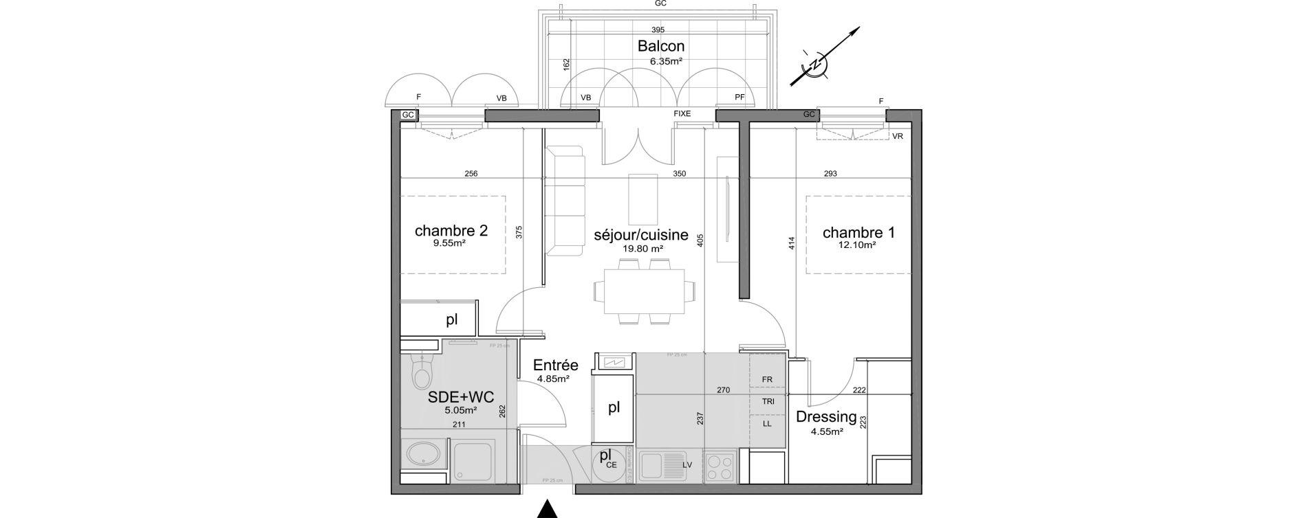 Appartement T3 de 55,90 m2 à Puget-Sur-Argens Centre