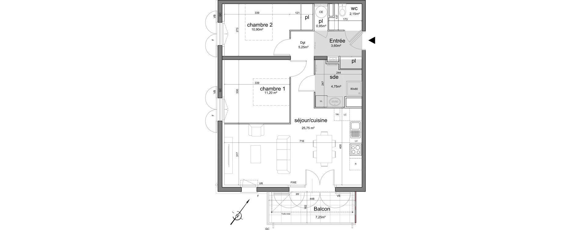 Appartement T3 de 64,55 m2 à Puget-Sur-Argens Centre