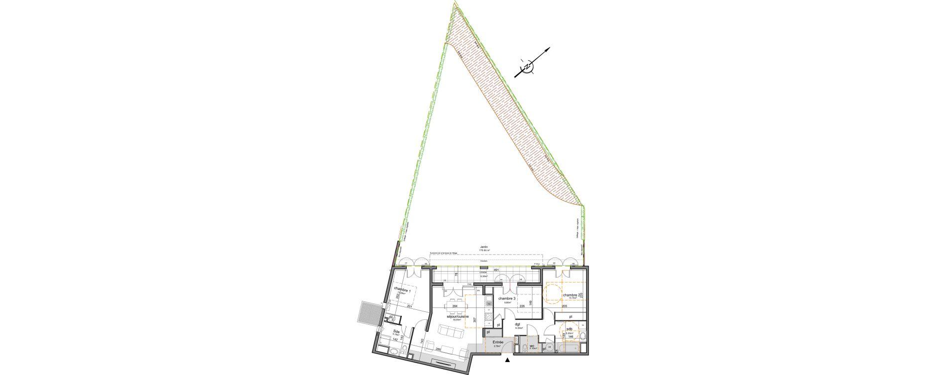 Appartement T4 de 89,20 m2 à Puget-Sur-Argens Centre