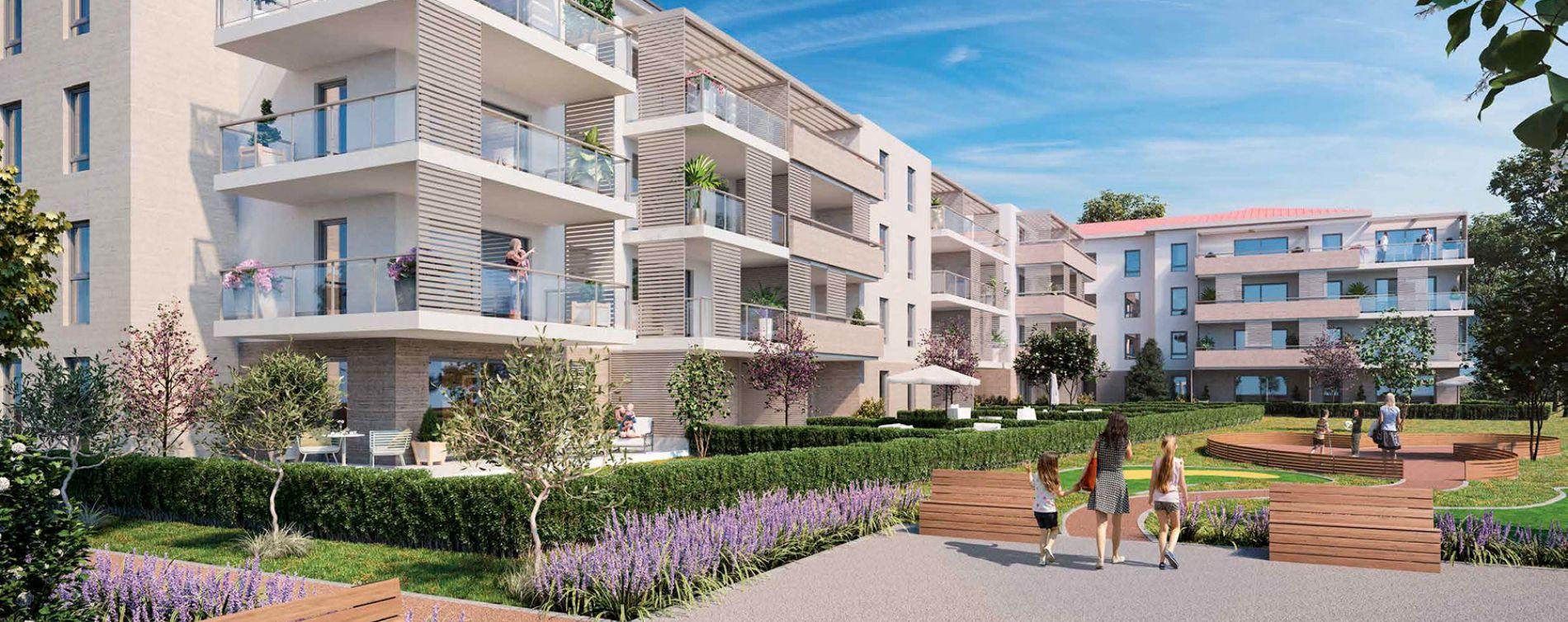 Saint-Raphaël : programme immobilier neuve « Fleur d'Estérel - Bât. A » en Loi Pinel (2)