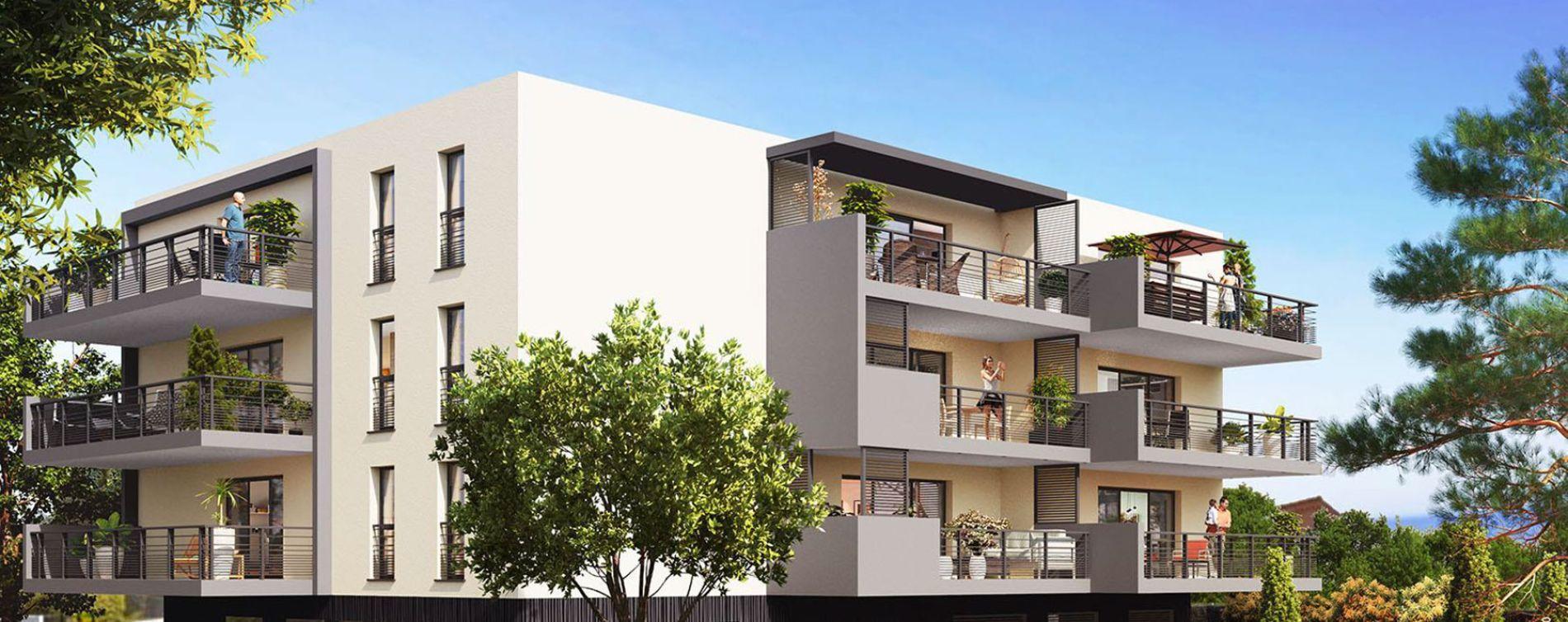 Saint-Raphaël : programme immobilier neuve « Jardin Aurélien » en Loi Pinel