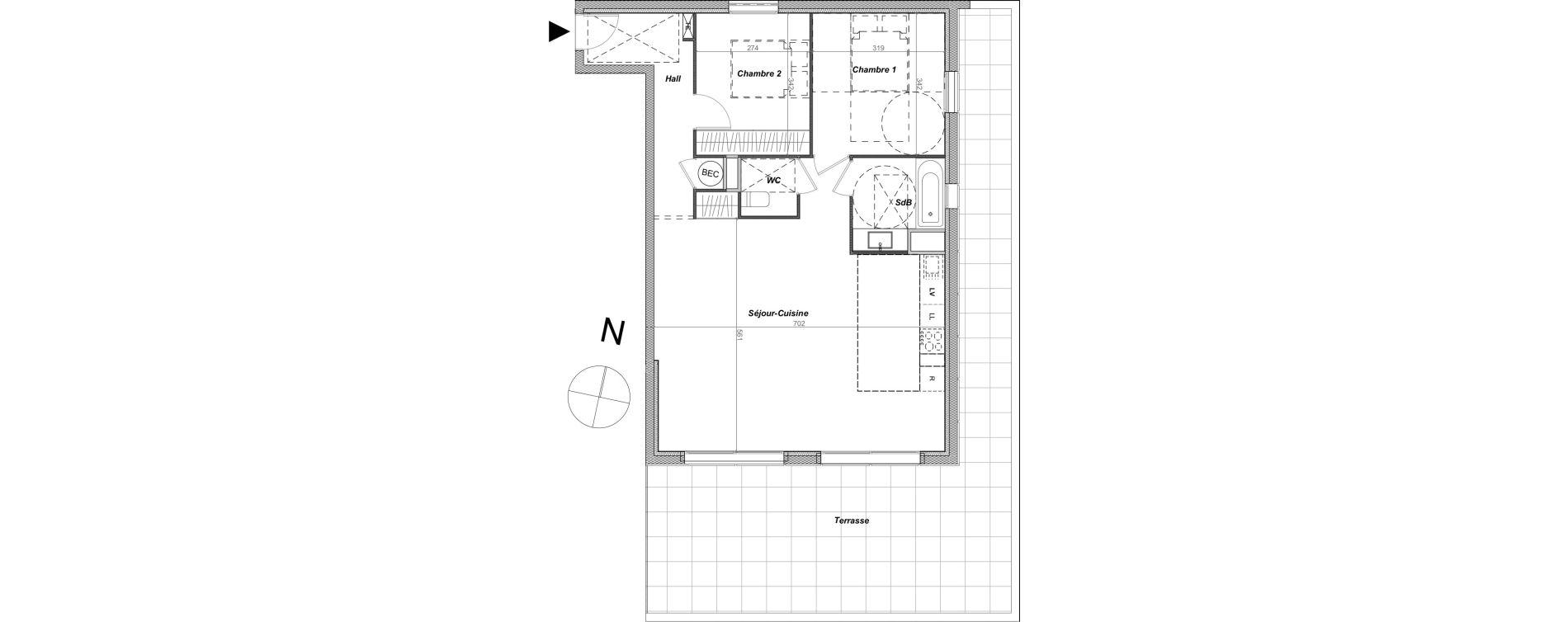 Appartement T3 de 73,52 m2 à Sainte-Maxime Centre