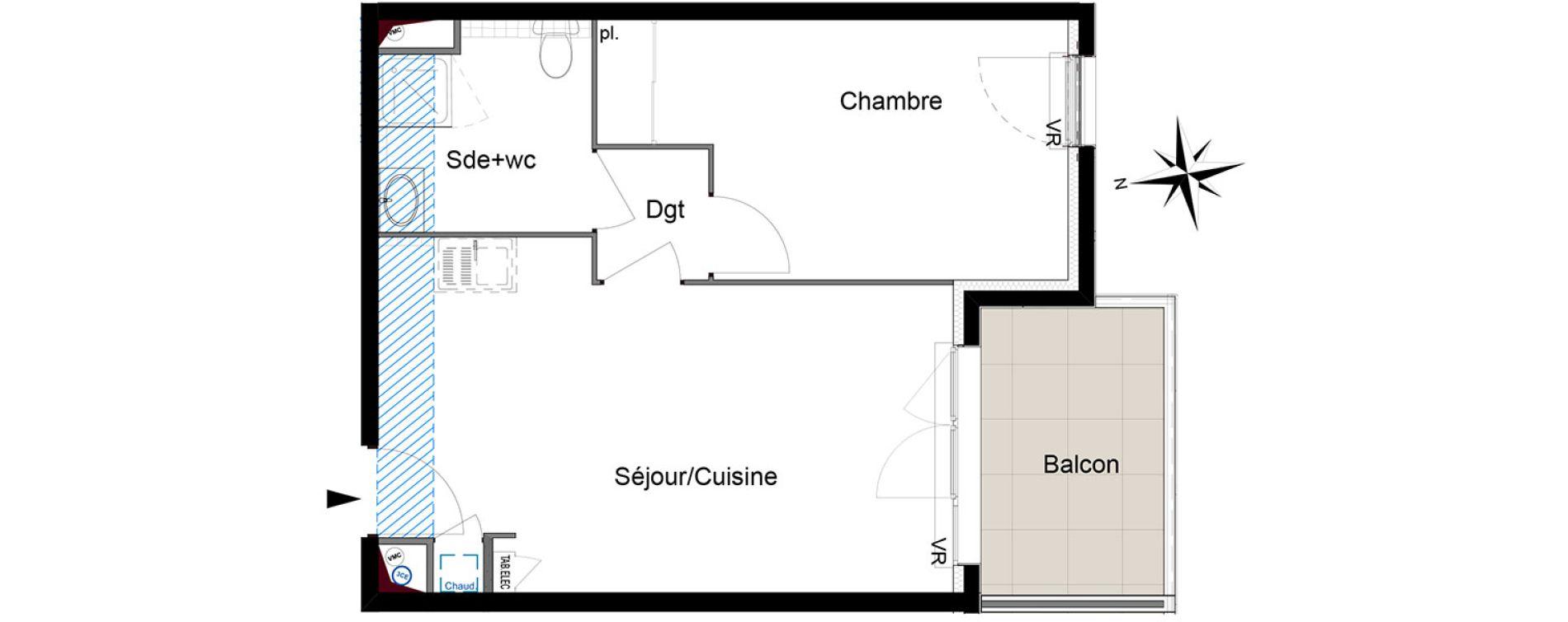 Appartement T2 de 41,15 m2 à Six-Fours-Les-Plages Centre