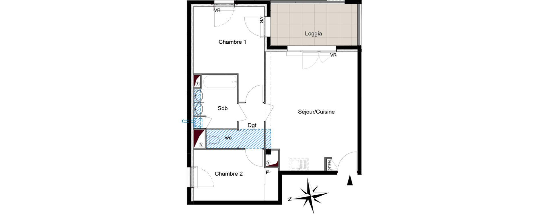 Appartement T3 de 57,07 m2 à Six-Fours-Les-Plages Centre