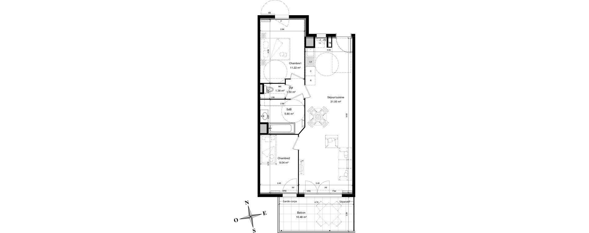 Les Allees Du Chateau Sollies Pont Appartement T3 De 58 84m2