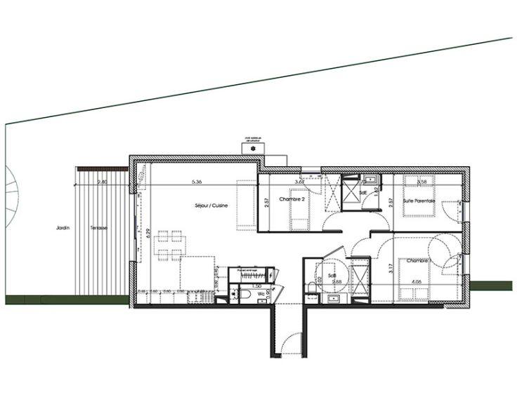 appartement t4 eclipse toulon n209. Black Bedroom Furniture Sets. Home Design Ideas