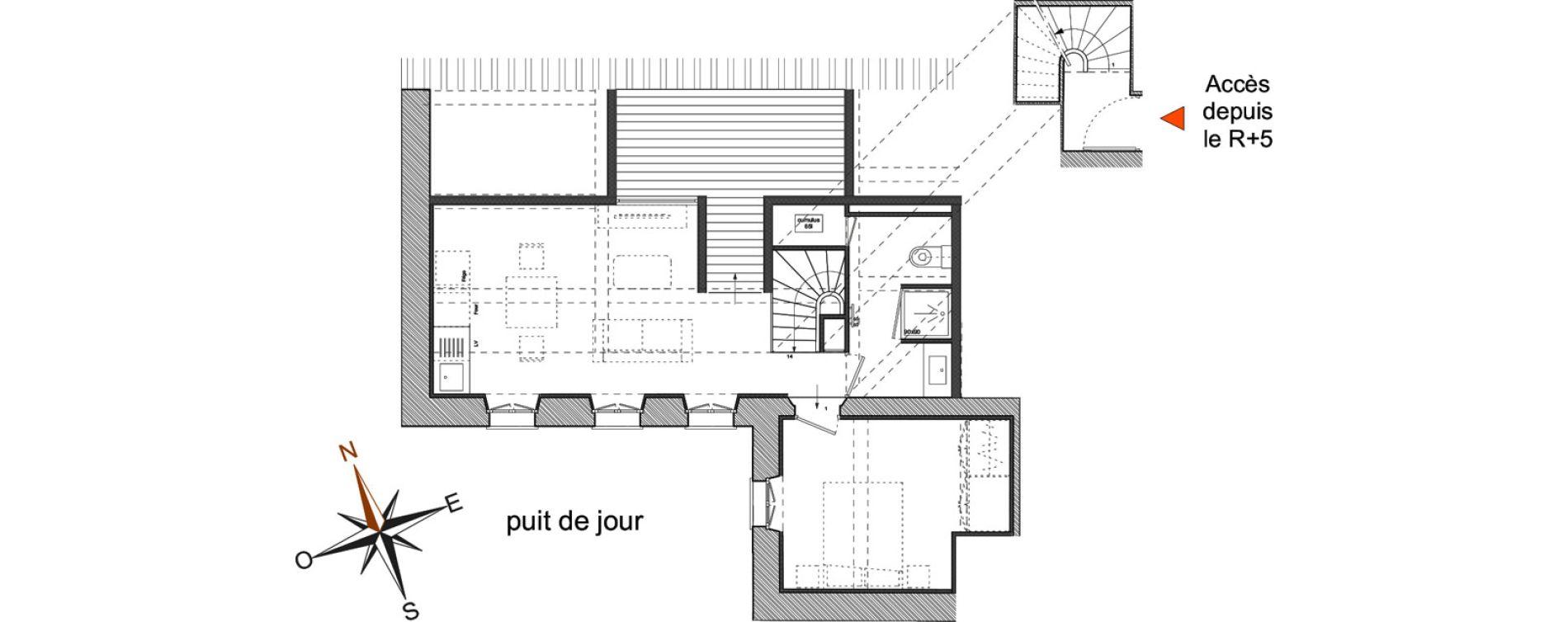 Appartement T2 de 29,50 m2 à Toulon Haute ville
