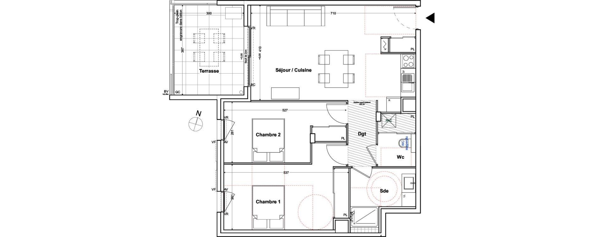 Appartement T3 de 70,65 m2 à Toulon Cap brun