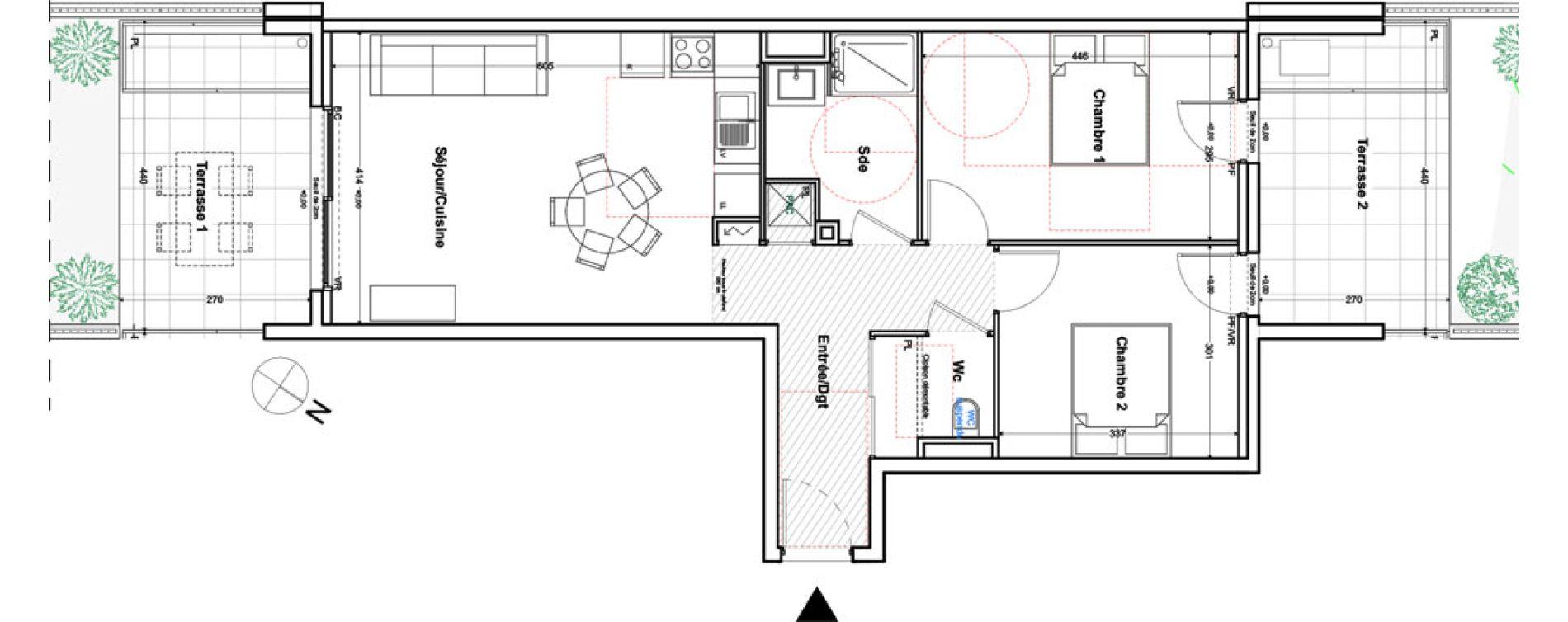 Appartement T3 de 64,42 m2 à Toulon Cap brun