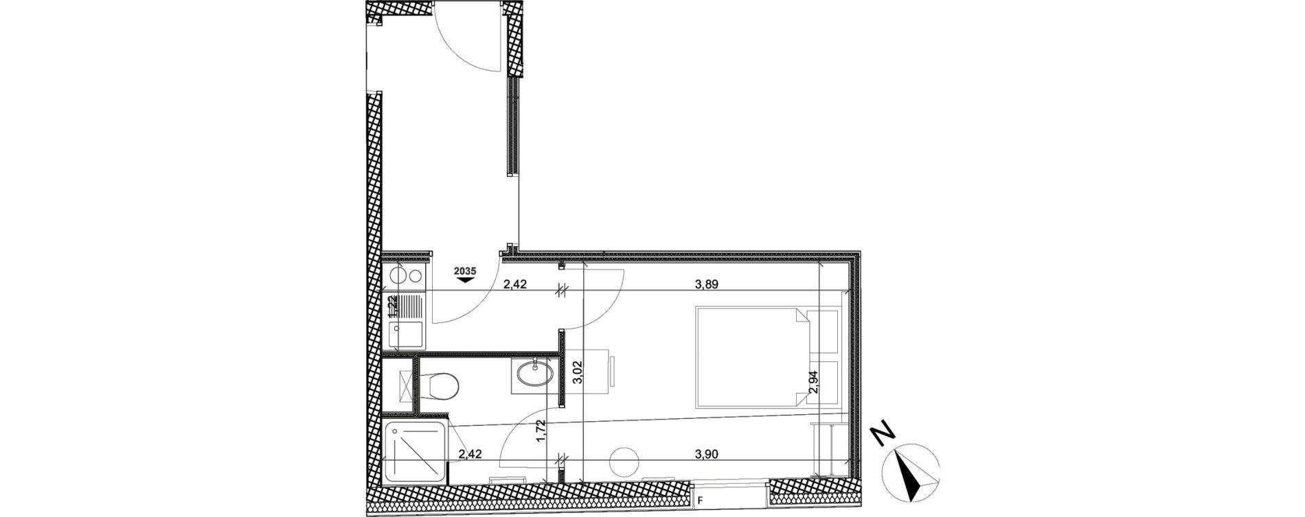 Appartement T1 meublé de 20,21 m2 à Toulon Centre